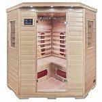Home Deluxe – Infrarotkabine – Redsun XXL – Keramikstrahler– Holz: Hemlocktanne - Maße: 150 x 150 x 190 cm – inkl. vielen Extras und komplettem Zubehör