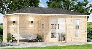 Alpholz 5 Eck Gartenhaus Liwa 28 aus Massiv Holz Geraetehaus mit 28 310x165 - Alpholz 5-Eck Gartenhaus Liwa-28 aus Massiv-Holz | Gerätehaus mit 28 mm Wandstärke | Garten Holzhaus inklusive Montagematerial | Geräteschuppen Größe: 595 x 300 cm