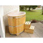 Achleitner Holzwaren Sauna Tauchbecken aus Lärchenholz mit Kunststoffeinsatz außen beschichtet 740