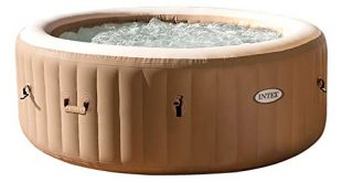 Intex O 196 x 71 cm Whirlpool Pure SPA 310x165 - Intex Ø 196 x 71 cm Whirlpool Pure SPA - Bubble Massage, Beige